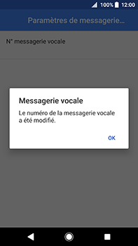 Sony Xperia XA2 Ultra - Messagerie vocale - Configuration manuelle - Étape 11
