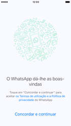 Apple iPhone 6s iOS 10 - Aplicações - Como configurar o WhatsApp -  7