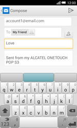 Alcatel Pop S3 (OT-5050X) - E-mail - Sending emails - Step 9