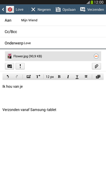 Samsung T315 Galaxy Tab 3 8-0 LTE - E-mail - Bericht met attachment versturen - Stap 17