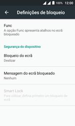"""Alcatel Pixi 4 (4"""") - Segurança - Como ativar o código de bloqueio do ecrã -  5"""