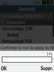 Samsung C3590 - Sécuriser votre mobile - Activer le code de verrouillage - Étape 10