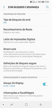 Samsung Galaxy A8 (2018) - Segurança - Como ativar o código de bloqueio do ecrã -  12