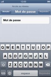 Apple iPhone 4 - iOS 6 - Wifi - configuration manuelle - Étape 5