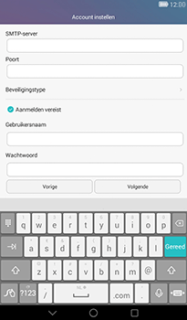 Huawei MediaPad T1 (7.0) - E-mail - handmatig instellen - Stap 15