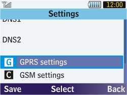 Samsung S3570 Chat 357 - MMS - Manual configuration - Step 11