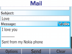Nokia Asha 210 - Email - Sending an email message - Step 12