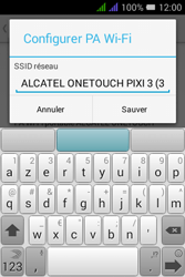 Alcatel Pixi 3 Dual Sim - Internet et connexion - Partager votre connexion en Wi-Fi - Étape 8
