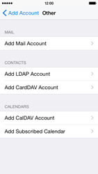 Apple iPhone 5s - iOS 8 - E-mail - Manual configuration - Step 7
