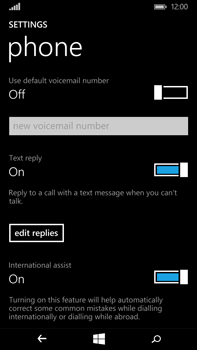 Microsoft Lumia 640 XL - Voicemail - Manual configuration - Step 7