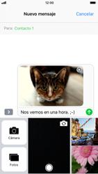 Apple iPhone 7 iOS 11 - Mensajería - Escribir y enviar un mensaje multimedia - Paso 15
