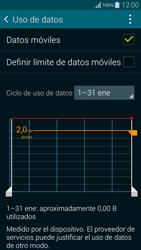 Samsung G850F Galaxy Alpha - Internet - Ver uso de datos - Paso 5