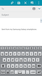 Samsung G800F Galaxy S5 Mini - E-mail - Sending emails - Step 5