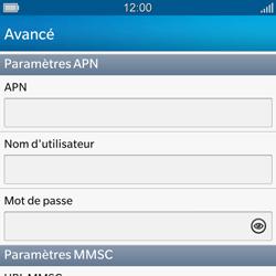 BlackBerry Q10 - MMS - Configuration manuelle - Étape 8