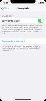 Apple iPhone X - Device maintenance - Back up - Étape 13
