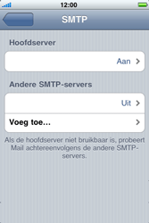 Apple iPhone 3G - E-mail - handmatig instellen - Stap 12