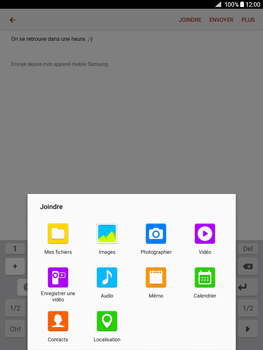 Samsung Galaxy Tab A - E-mails - Envoyer un e-mail - Étape 11