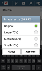 Samsung Galaxy Core Plus - Email - Sending an email message - Step 18