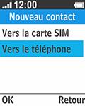 Bouygues Telecom Bc 211 - Contact, Appels, SMS/MMS - Ajouter un contact - Étape 5