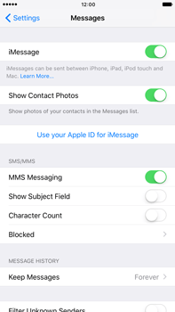 Apple Apple iPhone 6s Plus iOS 10 - iOS features - Send iMessage - Step 5