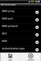 HTC A510e Wildfire S - MMS - Manual configuration - Step 11