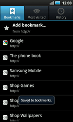 Samsung I5800 Galaxy Apollo - Internet - Internet browsing - Step 9