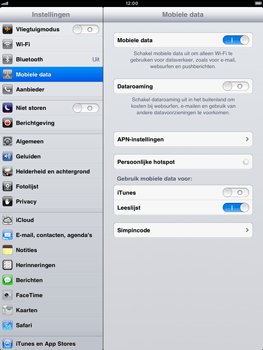 Apple iPad mini - Internet - aan- of uitzetten - Stap 4
