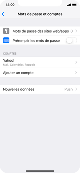 Apple iPhone X - iOS 12 - E-mail - Configuration manuelle (yahoo) - Étape 9