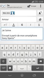 Sony D6603 Xperia Z3 - E-mail - Envoi d