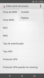 Sony Xperia E4 - Internet no telemóvel - Como configurar ligação à internet -  15