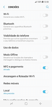 Samsung Galaxy S8 - Internet no telemóvel - Como configurar ligação à internet -  5