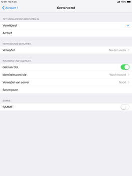 Apple ipad-mini-3-ios-12 - E-mail - Account instellen (POP3 zonder SMTP-verificatie) - Stap 22