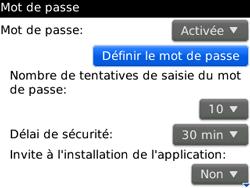 BlackBerry 8520 - Sécuriser votre mobile - Activer le code de verrouillage - Étape 10