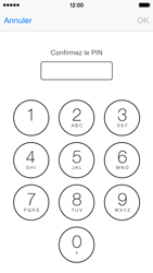 Apple iPhone 5s (iOS 8) - Sécuriser votre mobile - Personnaliser le code PIN de votre carte SIM - Étape 10