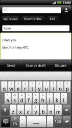 HTC Z715e Sensation XE - Email - Sending an email message - Step 8