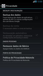 Motorola XT910 RAZR - Funções básicas - Como restaurar as configurações originais do seu aparelho - Etapa 5