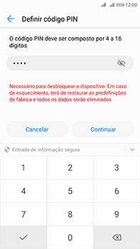 Huawei Mate 10 - Segurança - Como ativar o código de bloqueio do ecrã -  8