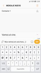 Samsung Galaxy S7 - Android Nougat - Mensajería - Escribir y enviar un mensaje multimedia - Paso 12