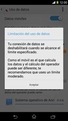 Sony Xperia M2 - Internet - Ver uso de datos - Paso 9