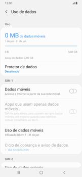 Samsung Galaxy A20 - Rede móvel - Como ativar e desativar uma rede de dados - Etapa 7