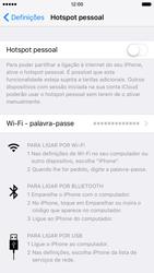 Apple iPhone 6s - Internet no telemóvel - Como partilhar os dados móveis -  6