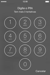 Apple iPhone 4S iOS 8 - Primeiros passos - Como ligar o telemóvel pela primeira vez -  5