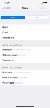 Apple iPhone XS Max - E-mail - e-mail instellen: IMAP (aanbevolen) - Stap 11