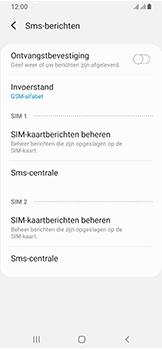 Samsung Galaxy A40 - SMS - handmatig instellen - Stap 11