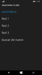 Microsoft Lumia 640 - Red - Seleccionar una red - Paso 8