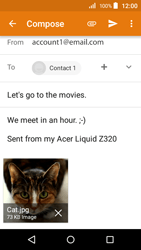 Acer Liquid Z320 - Email - Sending an email message - Step 15