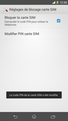 Sony Xpéria M2 - Sécuriser votre mobile - Personnaliser le code PIN de votre carte SIM - Étape 10