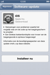 Apple iPhone 4S met iOS 6 (Model A1387) - Software updaten - Update installeren - Stap 5