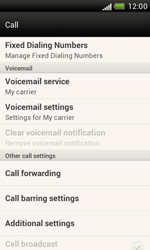 HTC T328e Desire X - Voicemail - Manual configuration - Step 5