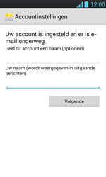 LG P700 Optimus L7 - E-mail - Handmatig instellen - Stap 17